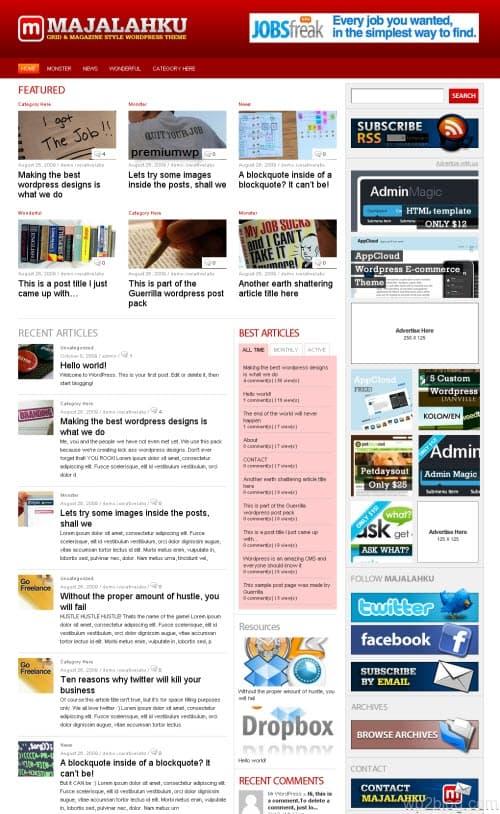 Majalahku WordPress Theme