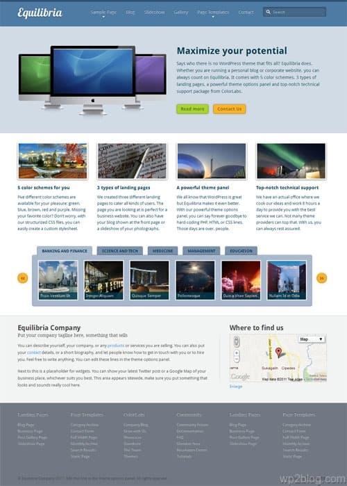 Equilibria Premium WordPress Theme