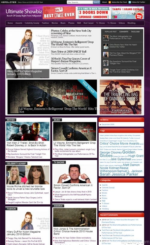 ultimate showbiz magazine