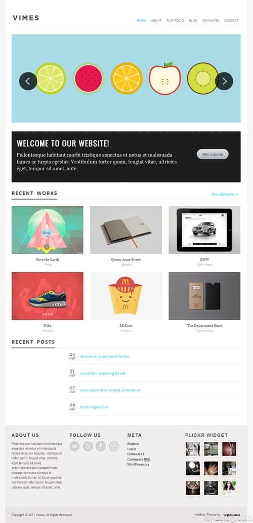 Vimes Portfolio Premium WordPress Theme