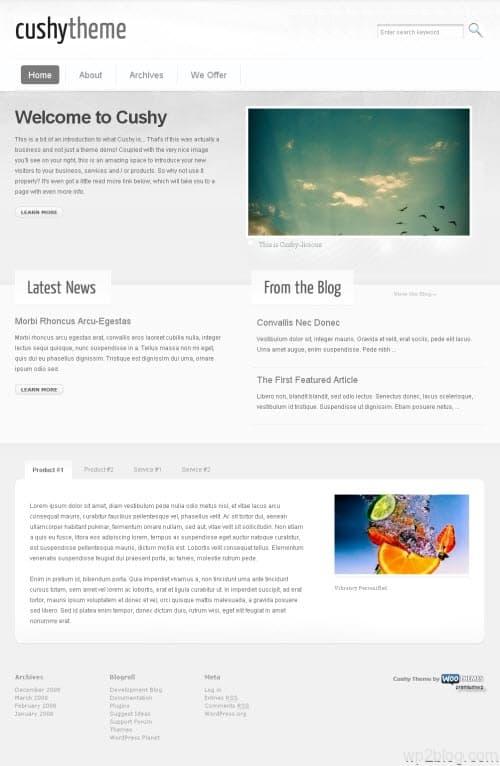 cushy premium wordpress theme