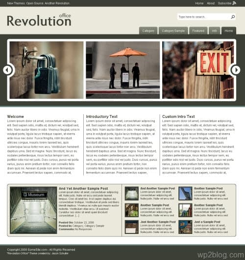 revolution office wordpress theme