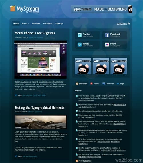 mystream wordpress theme