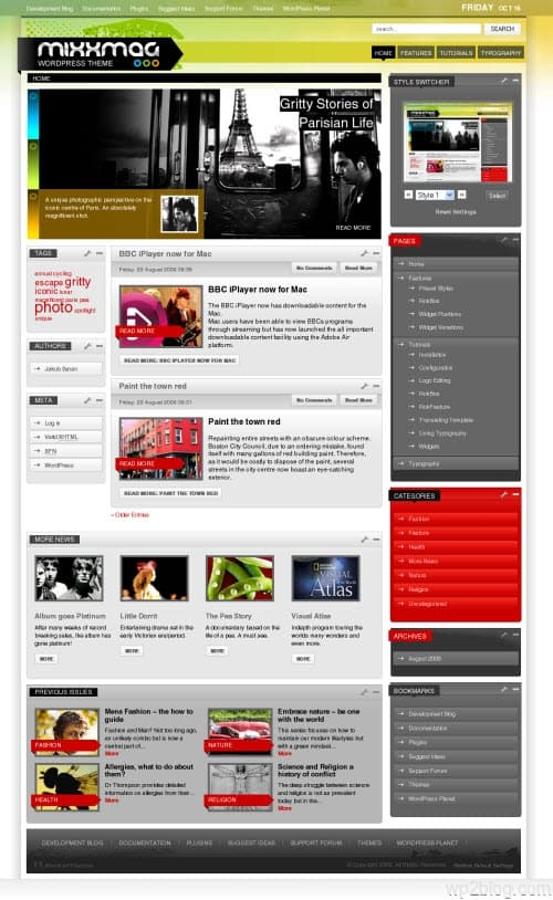 mixxmag wordpress theme
