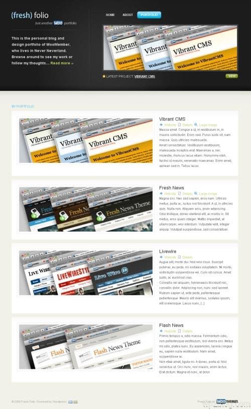 Fresh Folio Blog Theme