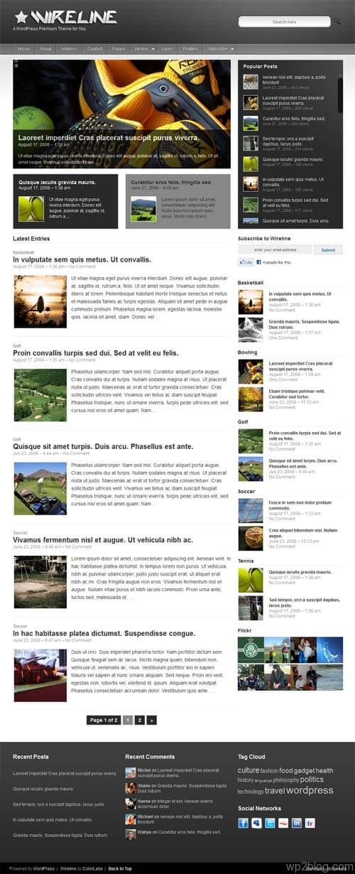 Wireline Magazine WordPress Theme
