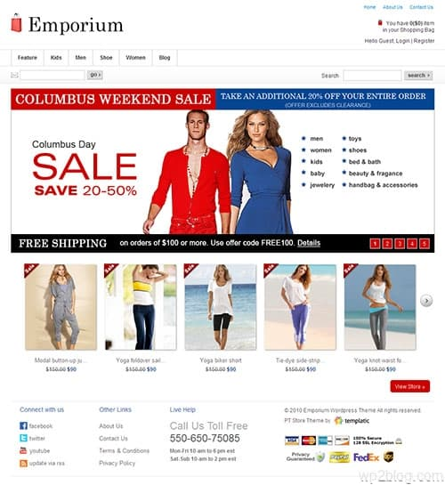 Emporium Ecommerce WordPress Theme