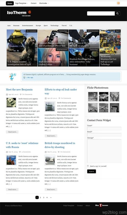 IsoTherm Magazine WordPress Theme