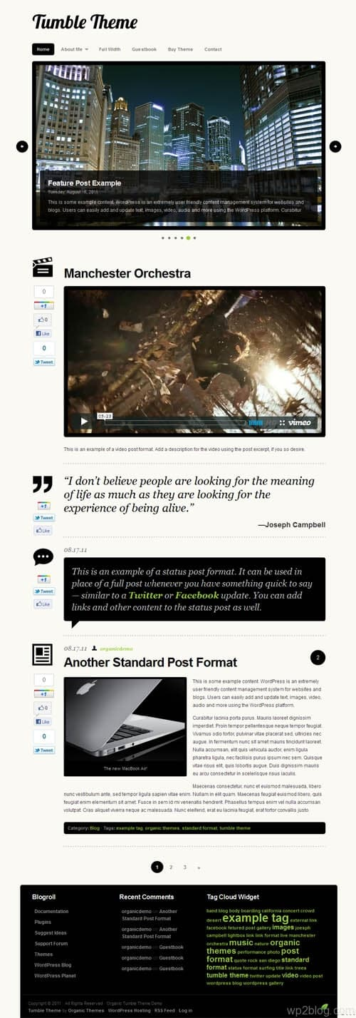 Tumble Premium WordPress Theme