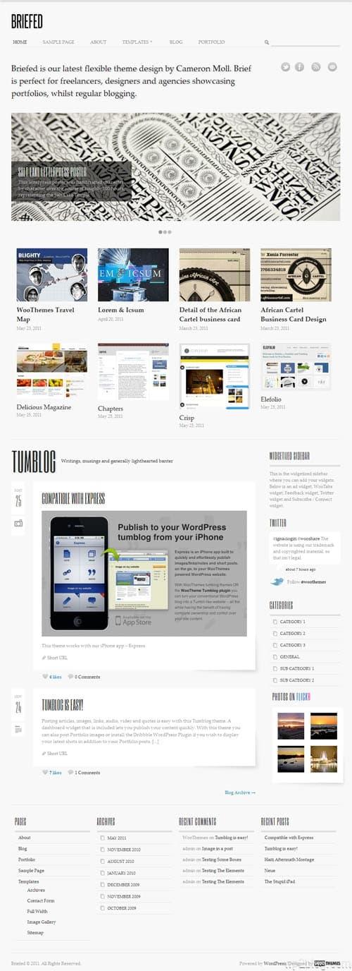 Briefed WordPress Portfolio Theme