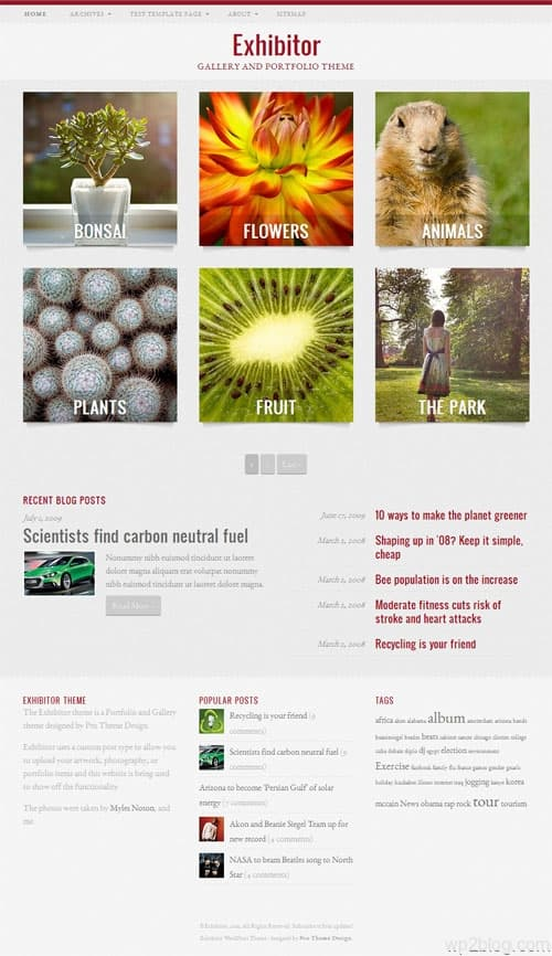 Exhibitor Premium WordPress Portfolio Theme