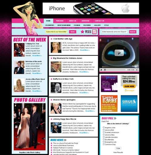 Celebrity Press WordPress Theme