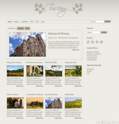 tuscany theme