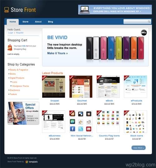 Store Front Premium WordPress Theme