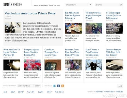 Simple Reader WordPress Theme