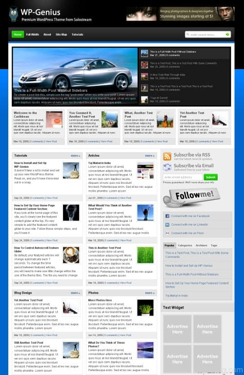 WP-Genius WordPress Theme