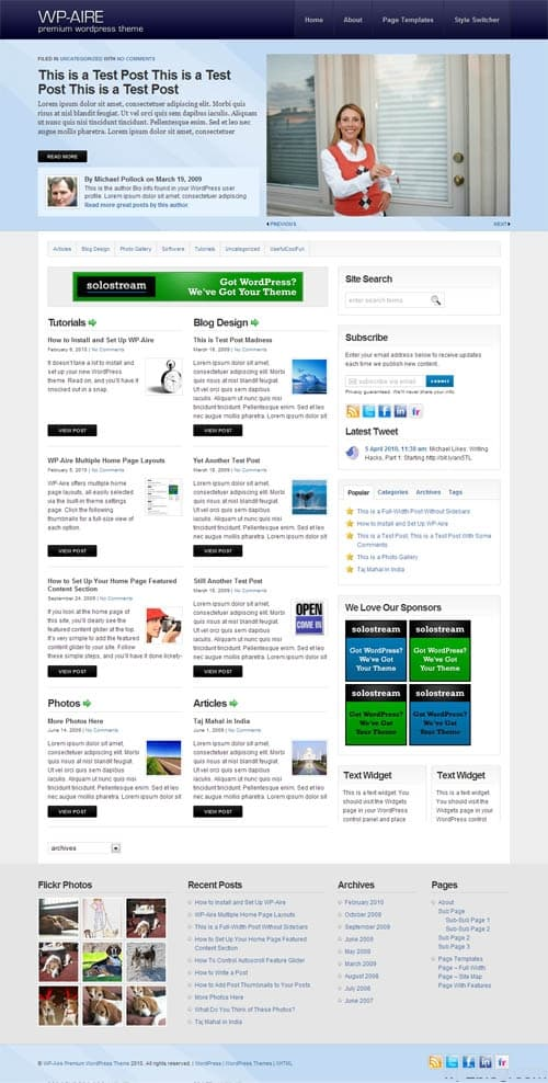 WP-Aire WordPress Theme