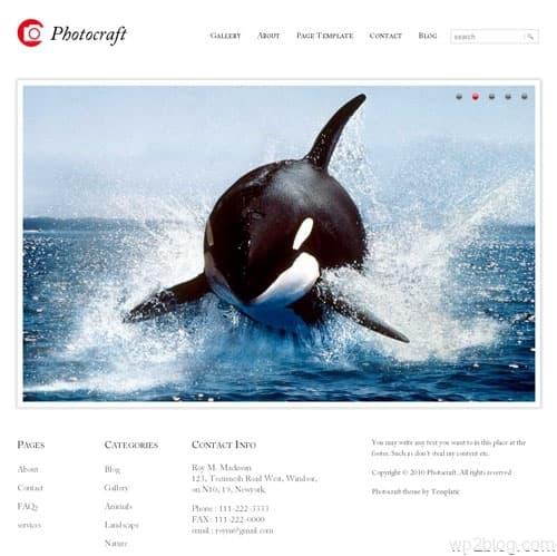 photocraft wordpress theme