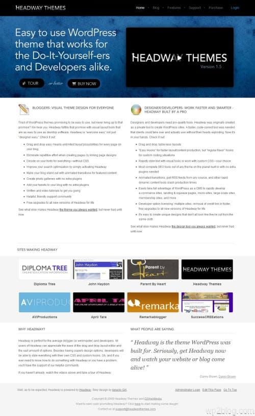 headway wordpress theme 1.5