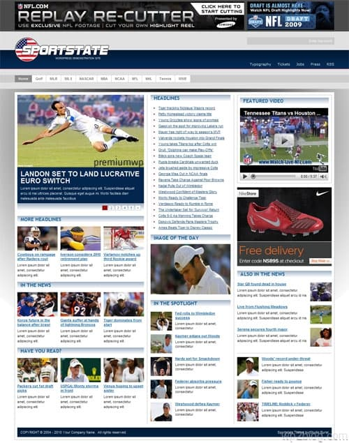 Sportstate WordPress Theme