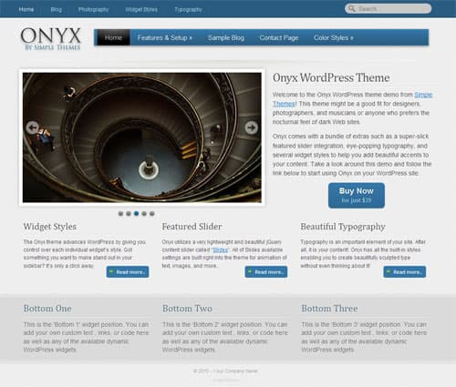 onyx-simple-wordpress-theme