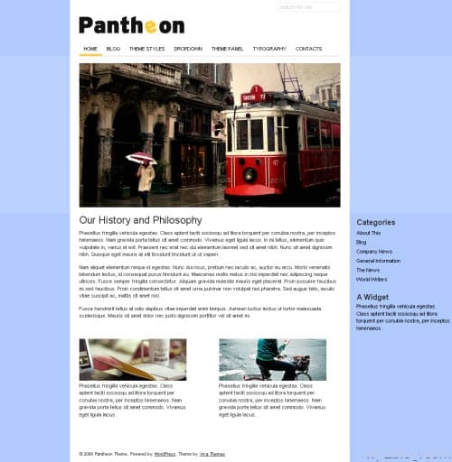 Pantheon Business WordPress Theme