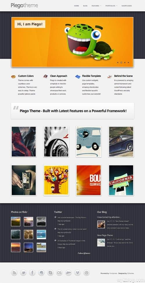 Piego Portfolio WordPress Theme