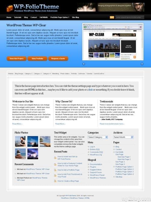 WP-Folio: Portfolio Premium WordPress Theme