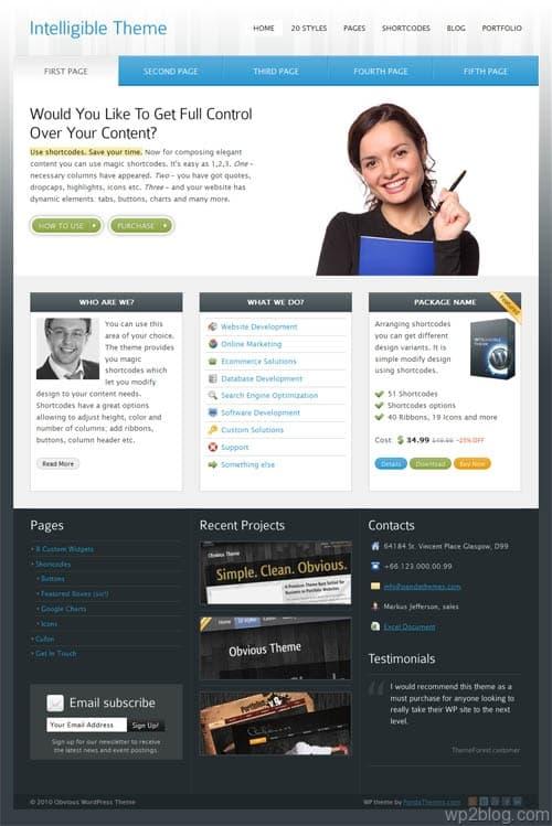 Intelligible Premium WordPress Theme