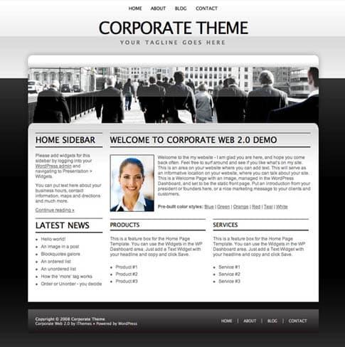 Corporate Theme White