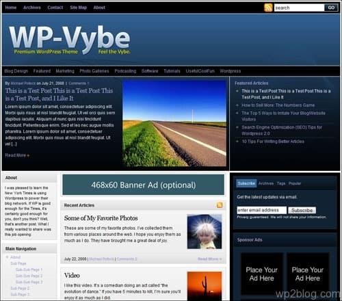 wp-vybe wordpress theme