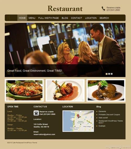 Restaurant WordPress Premium Theme
