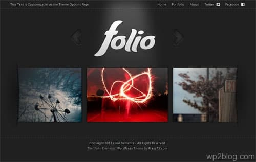 Folio Elements WordPress Theme