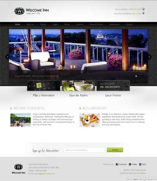 Welcome Inn Hotel WordPress Theme