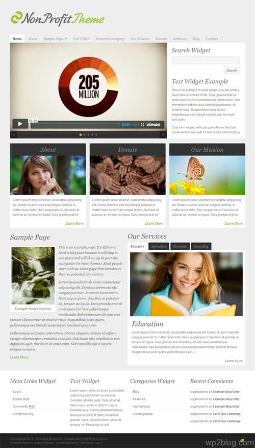 Non Profit WordPress Business Theme