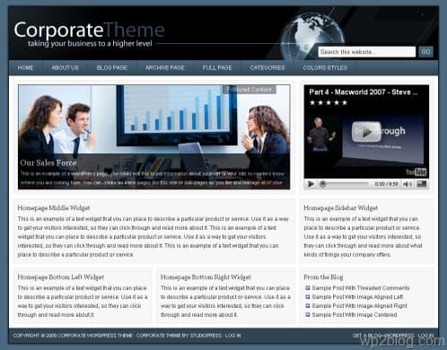 studiopress corporate theme blue