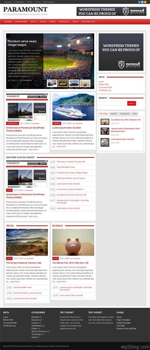 Paramount Magazine WordPress Theme