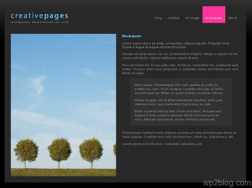 creative pages