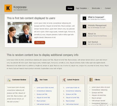 korporasi wordpress theme