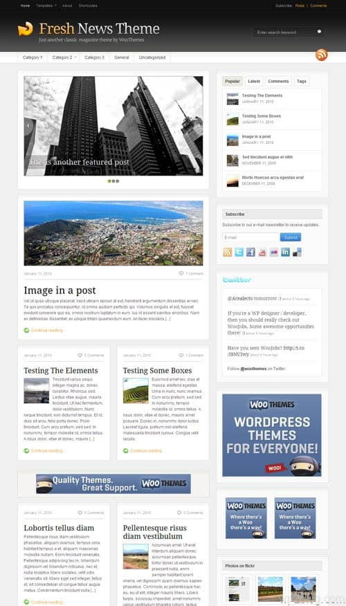 Fresh News 3.0 Premium WordPress Theme