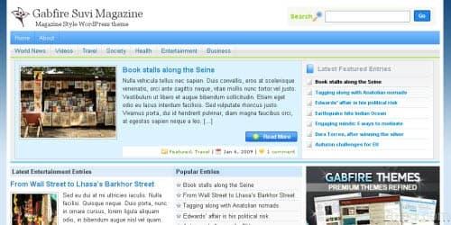 gabfire suvi magazine theme