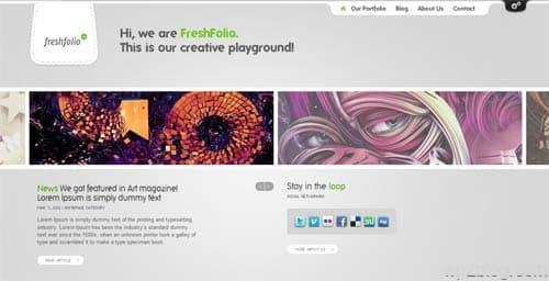 freshfolio wordpress theme