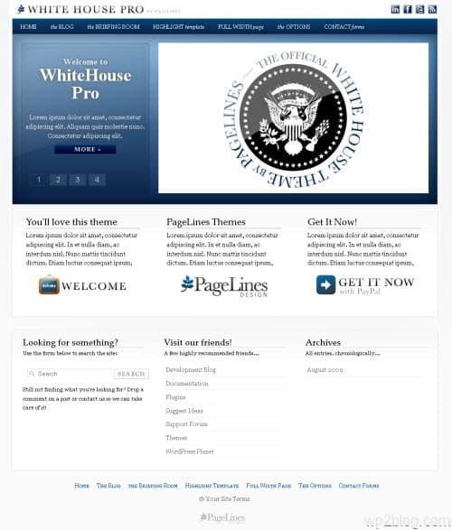 WhiteHouse Pro wordpress theme