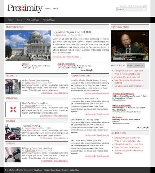Proximity WordPress Theme