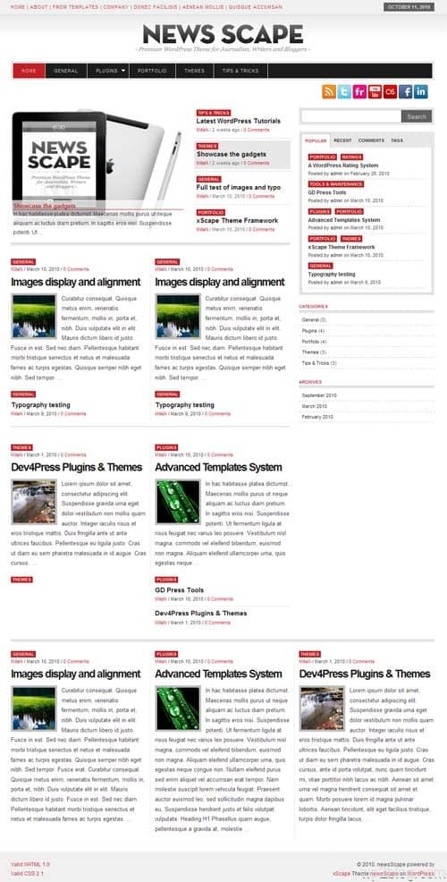 newscape wordpress theme