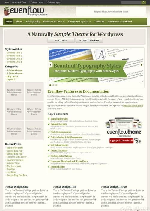 EvenFlow WordPress Theme
