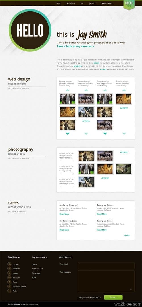 Jay Portfolio Showcase WordPress Theme