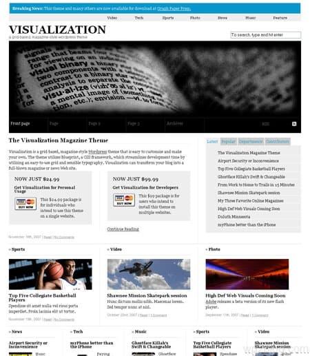 Visualization Theme