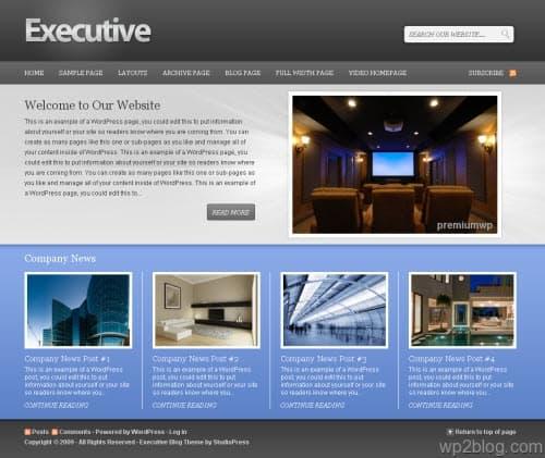 Executive 1.0 Premium WordPress Theme