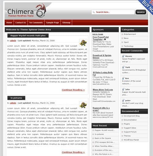 Chimera WordPress Theme
